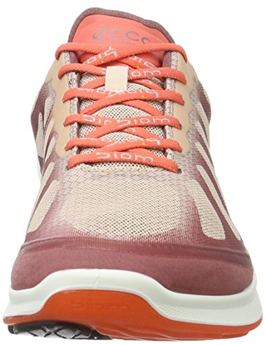 Ecco Womens Biom Fjuel Racer Cross Trainer Petalo Trim / Rose Dust / Coral Blush