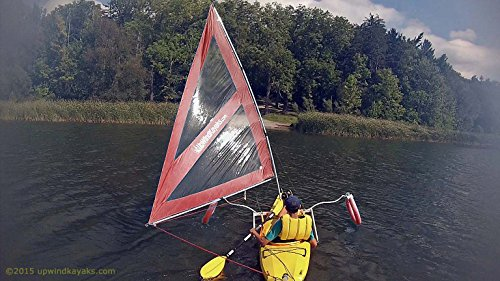 Serenity Upwind Kayak Sail and Canoe Sail Kit (Red). Complete with Telescoping Mast, Boom, Outriggers, Lee Boards, All Rigging Included! Compact, Portable, Easy to Set up - Makes a great gift ! by Sailskating (Image #6)