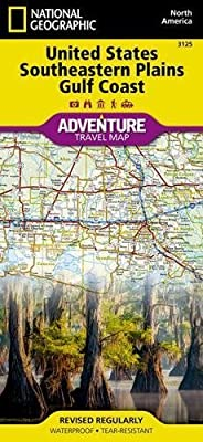 United States, Southeastern Plains and Gulf Coast (National Geographic Adventure Map)