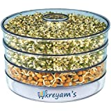 kreyam's® Ethnic Sprout Maker | Plastic Sprout Maker Box | Hygienic Sprout Maker with 4 Container | Organic Home Making Fresh Sprouts Beans for Living Healthy Life Sprout Maker 4 Bowl