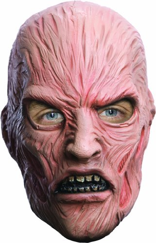 Costumes For Sale Freddy Krueger (A Nightmare On Elm Street Freddy Krueger Deluxe Overhead Mask, Red, One)