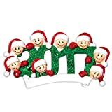 PERSONALIZED CHRISTMAS ORNAMENTS FAMILY KIT-2016 FACE FAMILY OF 8 KIT