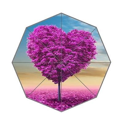 Élégant Splendid Cœur Rouge Motif arbre Parapluie pliable