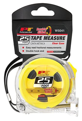 Performance Tool W5041 25' Clear Tape Measure