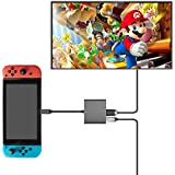 Keten HDMI Type C Hub Adapter for Nintendo Switch, HDMI Converter Dock Cable/Type C USB to HDMI Converter Hub Compatible with Nintendo Switch