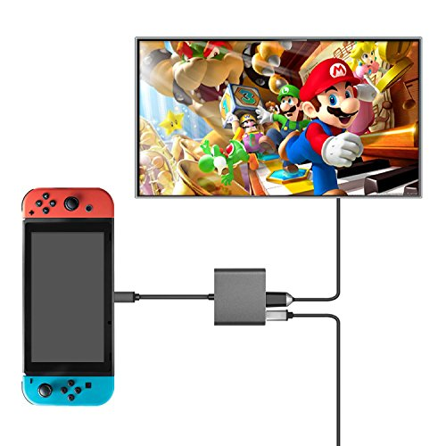 Keten Nintendo Switch HDMI Type C Hub Adapter, HDMI Converter Dock Cable/Type C USB to HDMI Converter Hub for Nintendo Switch