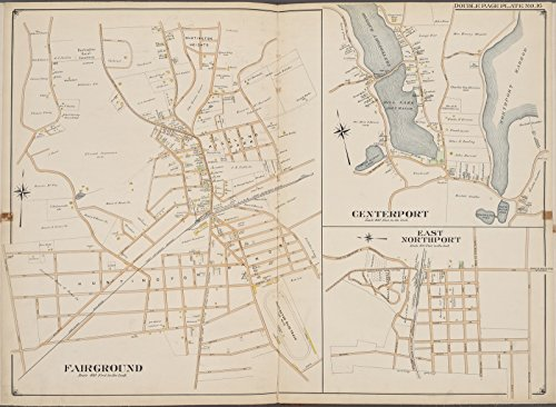 Map Poster - Suffolk County, V. 2, Double Page Plate No. 16 [Map bounded by Center Port, East North Port, Fair Ground] 11