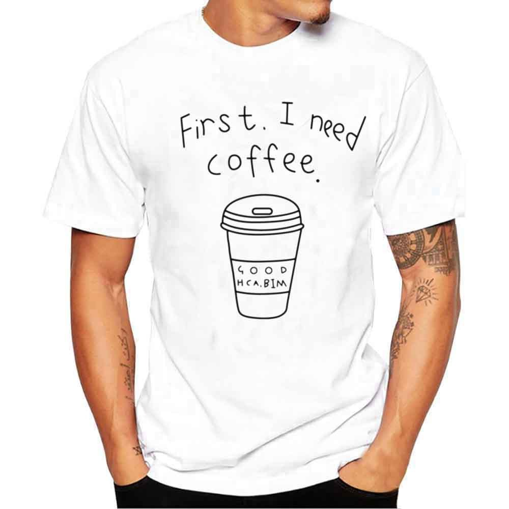 HTDBKDBK Men Summer Fashion Causal Men Printing Tees Shirt Short Sleeve T Shirt Blouse T-Shirts for Men White Tops