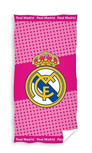 Carbotex Real Madrid Toalla de Playa Toalla de Sauna Toalla de Ducha 70 x 140 Rojo