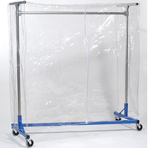 "Z-Racks Vinyl Cover W/ Zipper For 4ft Garment Rack, 60"" H..."