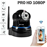 DMZOK1080P WiFi Security CameraVideo Baby MonitorNanny CameraPan Tilt Zoom TwoWay AudioNight VisionMotion Detectio SD Card Recording1080P