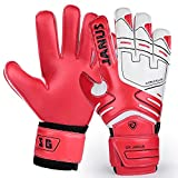 Professional Fingersave Youth&Adult Soccer Football Goalie Goalkeeper Gloves Strong Grip for The Toughest Saves