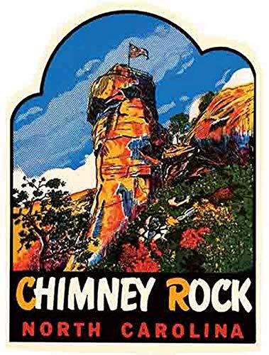 Chimney Rock North Carolina Vintage Travel Decal Sticker Souvenir