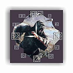 King Kong 11.4'' Handmade Wall Clock - Get Unique décor for Home or Office – Best Gift Ideas for Kids, Friends, Parents and Your Soul Mates