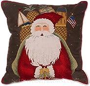 Handmade Traditional Williamsburg Papa Noel Saint Nick Nicholas 100% Wool Needlepoint Decorative Seasonal Wint