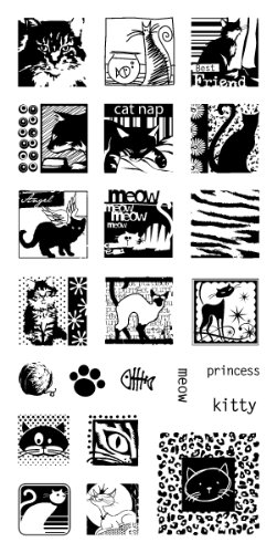 Inkadinkado Cats Galore Clear Stamps