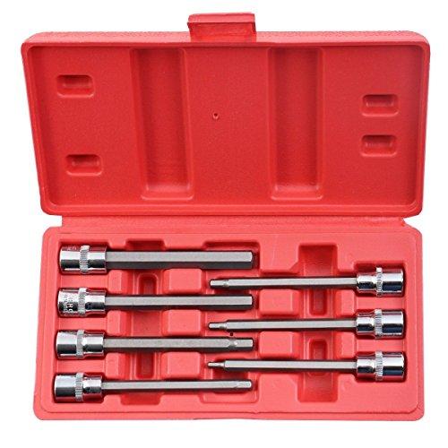 7pcs 3/8 Metric Extra Long Hex Allen Bit Socket Set with Case New,Jikkolumlukka from Jikkolumlukka