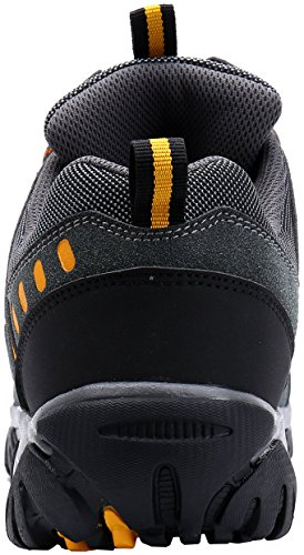 en Confortable Embout Orange Respirant Chaussures Antidérapante Sécurité Acier Travail de pour Homme Chaussures de Grise 18 LM Zn60q1xwB