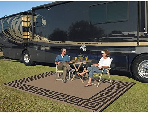 Patio Mats 9 x 12 Reversible RV Patio Mat, Indoor Outdoor Rug, Camping Mat