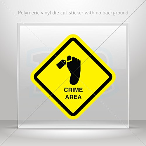 Decals Decal Morgue Area Sign Decorative Motorbike Bicycle Vehicle ATV (3 X 3 Inches) -