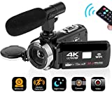 "SEREE Camcorder 4K 30MP WiFi Control Digital Camera 3.0"" Touch Screen Night Vision"