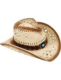 3c173670686b2 Men   Women s Woven Straw Cowboy Hat w Hat Band Décor