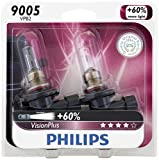 headlights for honda accord 2002 - Philips 9005 VisionPlus Upgrade Headlight Bulb, Pack of 2