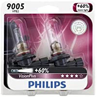 Philips 9005 VisionPlus Upgrade Headlight Bulb, Pack of 2