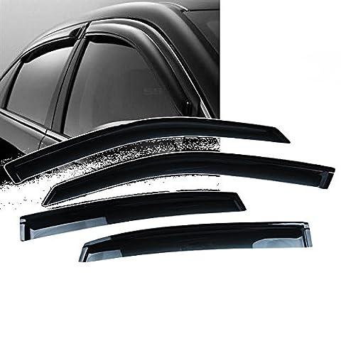 For 2000-2005 Chevy Impala New Smoke Black Seden Side Vent Window Visors Defector Rain Sunshading Guard - Impala Vent