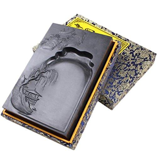 Wen Shi Si Bao Calligraphy Supplies Yan Duan Duan Yan Fine Ink Stone Natural Ink Pen Inkstone Collection Christmas Gifts by GHGJU