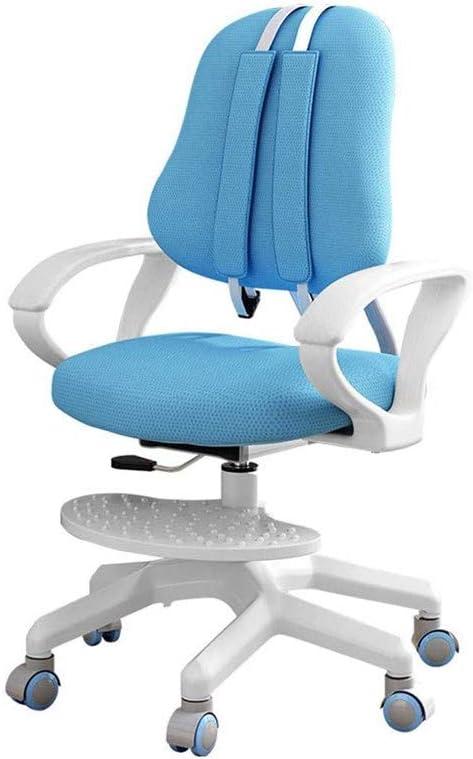 TWDYC Silla de Estudio para niños Alumnos de Escuela Primaria Postura Correcta para Sentarse Silla de Respaldo Oficina en casa Silla de Escritura Silla elevadora (Color : Blue)