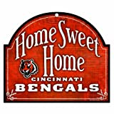 "NFL Cincinnati Bengals 10-by-11 inch Wood ""Home Sweet Home"" Sign"