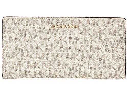 Logo Slim Sets - MICHAEL Michael Kors Jet Set Logo Slim Wallet, Color 149 Vanilla/Acorn