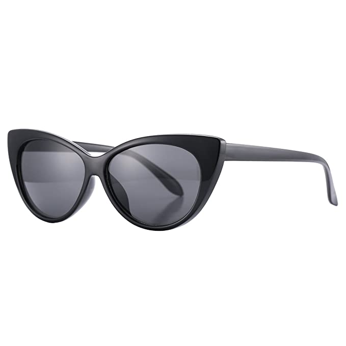 1d44aafcf4 Pro Acme Super Cute Vintage Inspired Fashion Mod Chic High Pointed Cat Eye  Sunglasses (Black Frame Black Lens