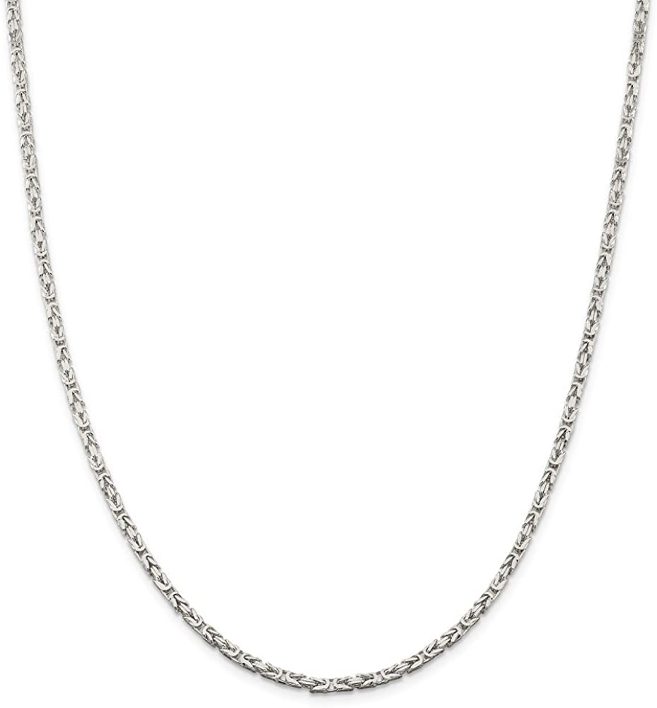 925 Sterling Silver 3mm Solid Link Rope Chain Necklace 22 Inch Pendant Charm Regular Fine Jewelry For Women Gift Set