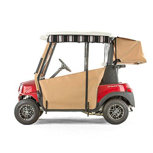 (Club Car Onward Golf Cart PRO-TOURING Sunbrella Track Enclosure - Linen-HR)