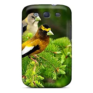 Brand New S3 Defender Case For Galaxy (two Pretty Birds On A Green Spruce)