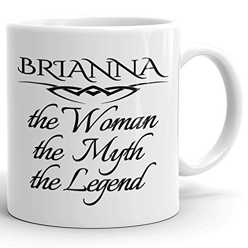 Best Personalized Womens Gift! The Woman the Myth the Legend - Coffee Mug Cup for Mom Girlfriend Wife Grandma Sister in the Morning or the Office - B Set 2