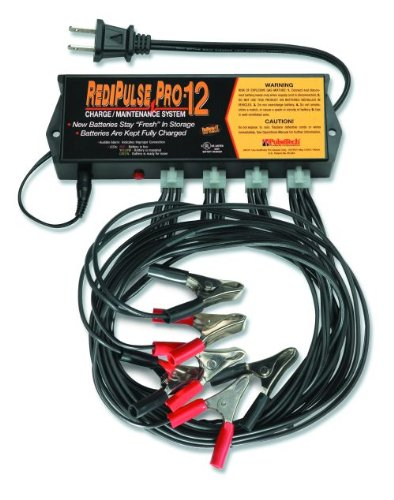 RediPulse Pro-12 Charge/Maintenance System (110 Volt) - Keep Up To 12 New Batteries Factory Fresh All The Time. If you sell, stock or service lead-acid batteries, this Pulsetech product keeps new batteries sulphur deposit free and maintains maximum charge safely.