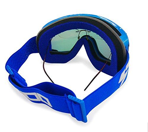 Material A de Capa Prueba de de Cilindro Antiniebla a de Gafas PC Doble explosiones montañismo esquí wq0ntZ
