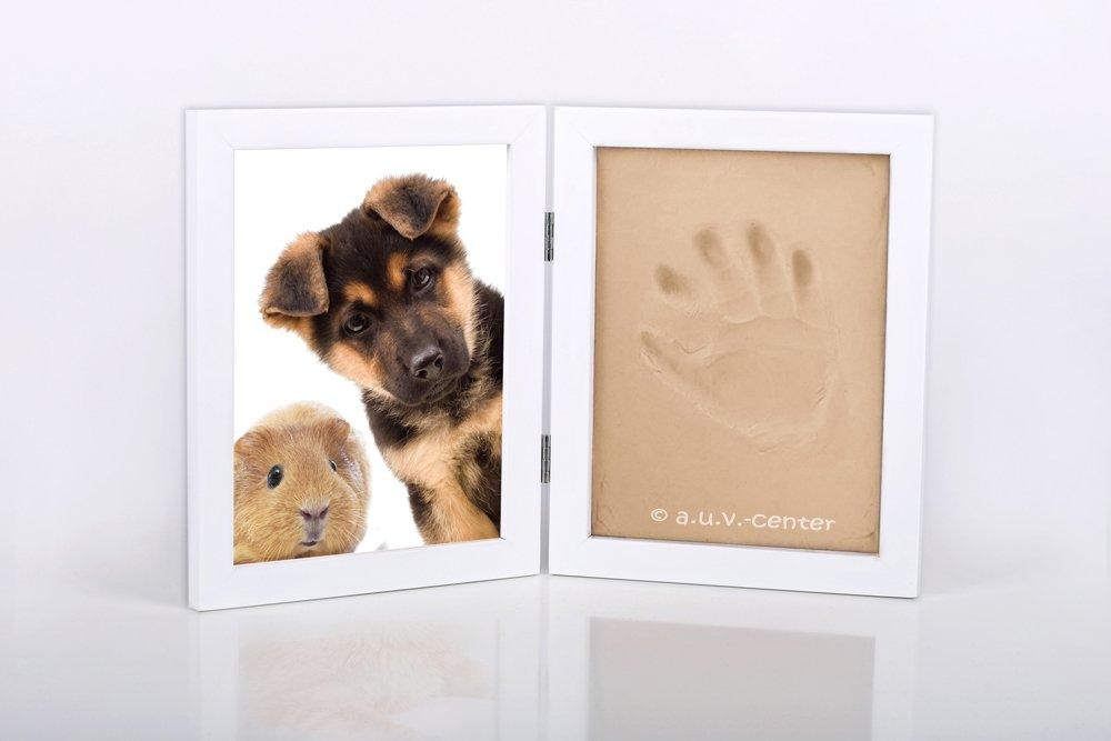 Gipsabdruck Ton gießen Hund, Katzen, Maus, Fotorahmen, Pfotenabdruck ...
