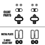 BV Bike Cleats for Shimano SPD - Spinning, Indoor Cycling & Mountain Bike Bicycle Cleat Set
