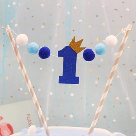 MOMO Pastel de cumpleaños decoración enchufable bebé ...
