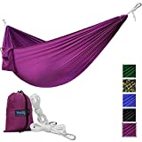 If you are looking for the best hammock for hanging in the backyard or taking out along for fast light outdoor trip, here is yours. NO NEED TO WAIT FOR SUMMER TO COME, THE FUN NEVER ENDS HERE!!! Let your favorite time begin now with golden sunshine, ...