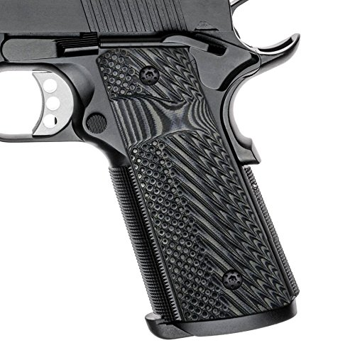 Cool Hand 1911 Slim G10 Grips, Full Size(Government/Commander), Magwell Cut, Big Scoop mag. Release, 3/16 Thin, Ambi Safety Cut, OPS Texture, These Grips Only Work with Short - Thin Grips