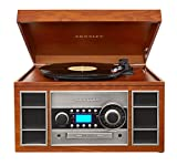 Crosley CR2413A-PA Memory Master II Turntable with Radio, CD Player/Recorder, Cassette and Aux-In, Paprika