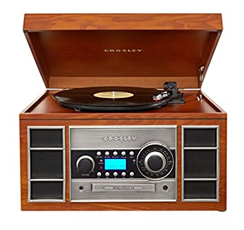 Crosley CR2413A PA Memory Master II Turntable With Radio, CD Player /Recorder,