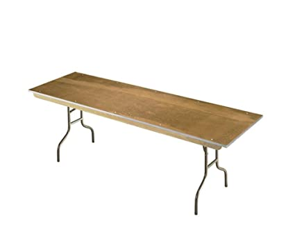 Amazoncom Plywood Folding Table 30 X 72 Walnut Stain Plywood