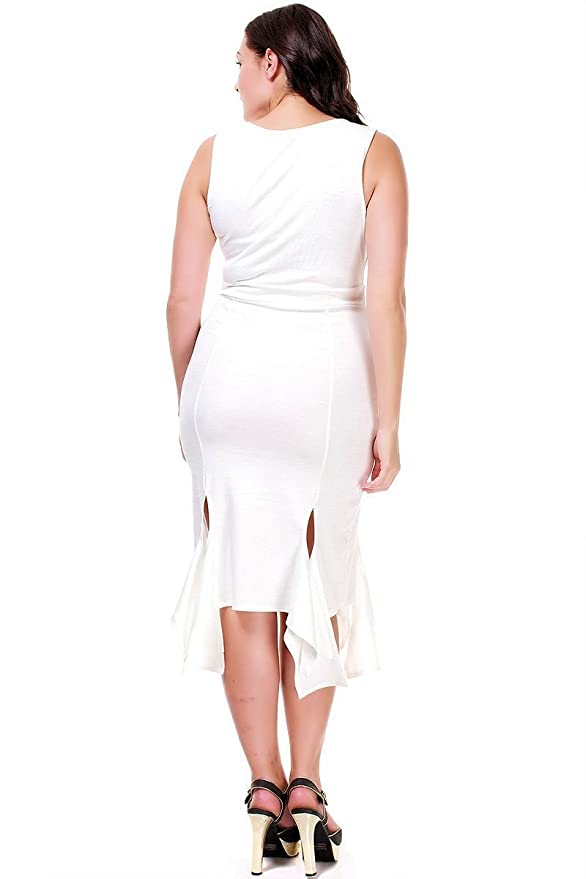 e6546cb96aa1 Nyteez Women's Plus Size Sleeveless Party Salsa Dress at Amazon Women's  Clothing store: