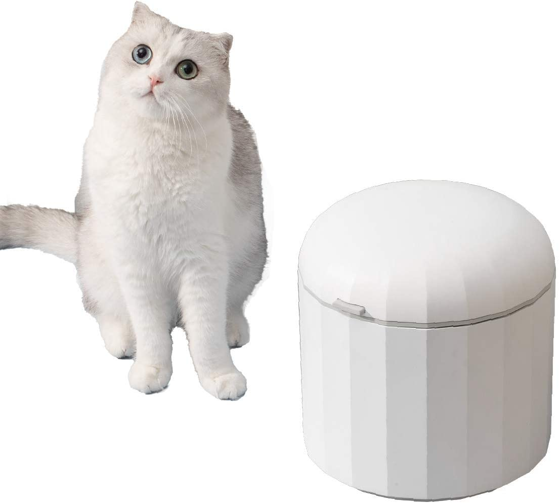 Furrytail Full House Cat Food Storage Container 5.5lb/6L with Airtight Lid and Free Scoop, Stylish and Premium Food Container for Pet